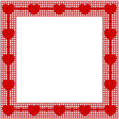 Valentines frame background with hearts — Stock Vector