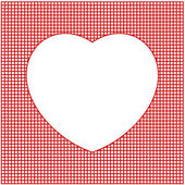 Valentine card with heart — Stock Vector