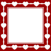 Valentine card with hearts — Stock Vector