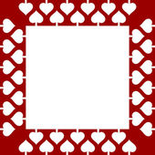 Valentine frame background with hearts — Stock Vector