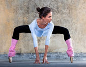 Ballerina stretching out — Stock Photo