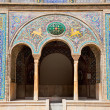 Beautyful mosaic arc of Golestan  palace,, Tehran, Iran — Stock Photo