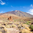 View of volcano Mount Teide, in Teide National Park, in Tenerife - Stock Photo