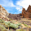 Volcanic landscape on Teide, Tenerife, Spain. - Stock Photo