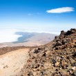View from peak Teide, Tenerife,  Spain - Stock Photo