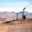 Teleferico cable-car gondola going up to peak of Teide Volcano — Stock Photo