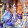 Anatolian ceramic tile - Oriental embroidied pots, Iran — Stock Photo