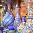 Stock Photo: Anatoliceramic tile - Oriental embroidied pots, Iran