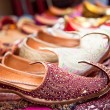 Authentic Iranian woman's shoes in Vakili bazaar — Stock Photo
