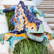 Stock Photo: Mosaic Lizard in Park Guell