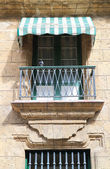 A terrace of colonial house, old Havana — Stock Photo