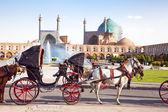 Carriage on Naqsh-i Jahan Square, Isfahan, Iran — Stock Photo