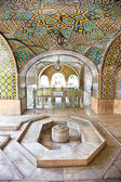 Mosaic wall and marble fountain of Golestan palace, Tehran — Stock Photo