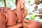 Taza de cerámica de nueva creación artesano — Foto de Stock