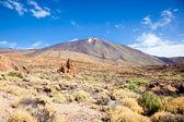 View of volcano Mount Teide, in Teide National Park, in Tenerife — Stock Photo