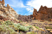 Volcanic landscape on Teide, Tenerife, Spain. — Stock Photo