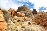 Volcanic landscape on Teide, Tenerife, Spain. — Stock Photo