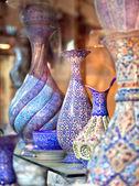 Anatolian ceramic tile - Oriental embroidied pots, Iran — Stock Photo