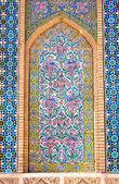Tiled background, Vakili Mosque, Shiraz, Iran — Stock Photo