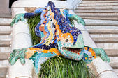Mosaic Lizard in Park Guell — Stock Photo