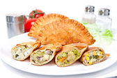 Various Crispy vegetable Samosa — Stock Photo