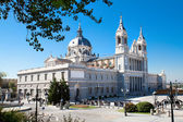 Beautiful architecture- Cathedral Almudena, Spain — Stock Photo
