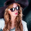 Photo-session of the young beautiful  woman - Stockfoto