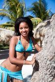 Piękna kobieta karaibów — Zdjęcie stockowe