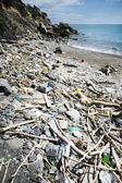 Spiaggia discarica — Stock Photo