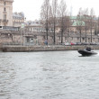 Stock Photo: French police squad on Seine River