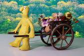 Concetti di primavera dei cartoni animati — Foto Stock