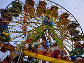 Big wheel amusement park — Stock Photo