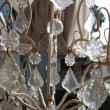 Foto Stock: Crystal strass lamp