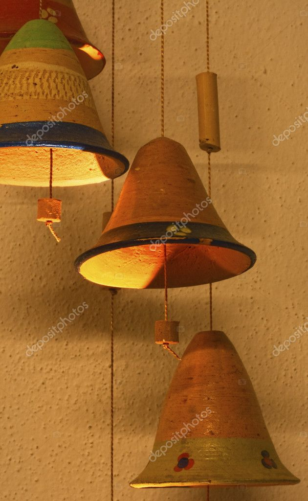 Traditional decorative ethnic handmade bell from Colombia — Stock Photo #8030278