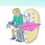 Taking care of elderly — Stock Photo