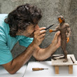 Stock Photo: Sculptor