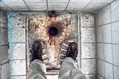 Dilapidated Turkish toilet — Stock Photo