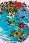 Flowered Asia and Australia — Stock Photo