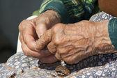 Elderly hands — Stock Photo