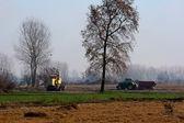 Traktorů a kombajnů — Stock fotografie
