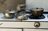 Old cooking pots — Stock Photo