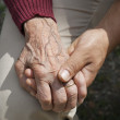 Young and old  hands — Stock Photo #8060039