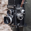 Close up of an old rolleiflex — Stock Photo