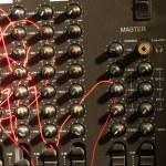 Audio mixer from the eighties — Stock Photo #8073151