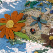 Flowered North Africa — Stock Photo