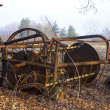 Old Thresher in open field — Stock Photo