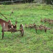 Stock Photo: Agricultural machinery in field