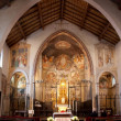 Panoramic view of an antique Church — Foto Stock