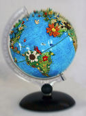 Flowered globe — Stock Photo