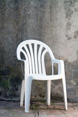 White plastic chair — Stock Photo